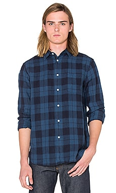 rag & bone Beach Shirt in Blue Plaid