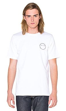 rag & bone Sour Face Embroidery Tee in Bright White