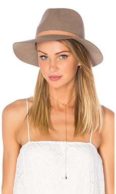 Floppy Brim Fedora in Almond