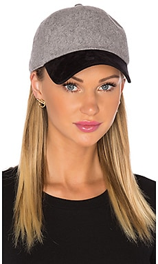 Rag & Bone Marilyn Baseball Cap in Grey Multi