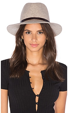 Floppy Brim Fedora in Brown Multi