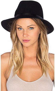 Floppy Brim Fedora in Black