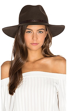 Wide Brim Fedora in Brown