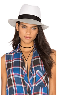 Rag & Bone Floppy Brim Fedora in White Multi