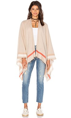 Addie Poncho in Tan