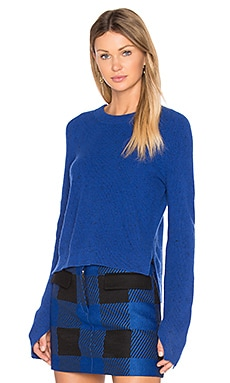 Valentina Cashmere Crop Sweater en Bright Blue