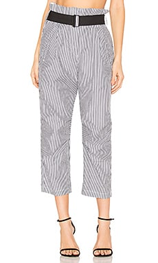 Bosworth Pant in Black Stripe