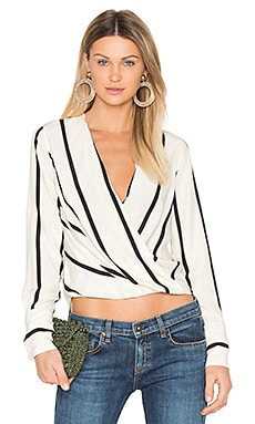 Max Blouse in Beige Stripe