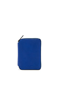 Small Zip Around Wallet in Cobalt