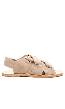 Elda Sandal in Warm Grey Suede
