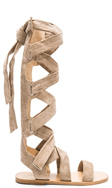 Ilaria Sandal in Warm Grey Suede