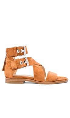 Madeira Sandal in Tan Suede