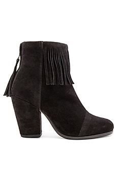 Rag & Bone Newbury Fringe Bootie in Black Suede