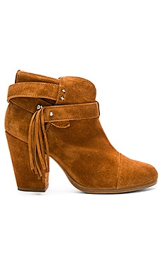 Harrow Fringe Bootie in Tan Suede