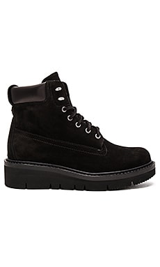 Camden Boot in Black Suede