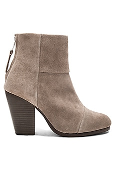 Classic Newbury Bootie in Warm Grey Suede