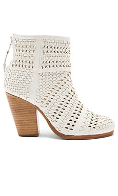 Classic Newbury Bootie in Ivory Woven