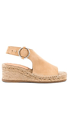 Calla Wedge in Dune Suede