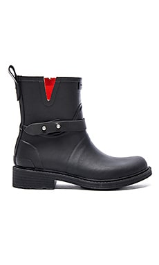 Rag & Bone Moto Rain Boot in Black