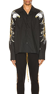 Eagle Embroidered Button Up Rhude $268