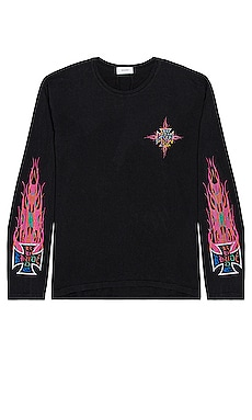 Neon Flame Long Sleeve Tee Rhude $216