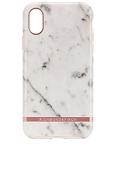 White Marble & Rose iPhone X/XS Case Richmond & Finch $46
