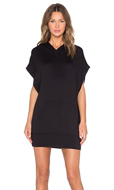 Riller & Fount Hooded Muscle Tee Tunic in Black