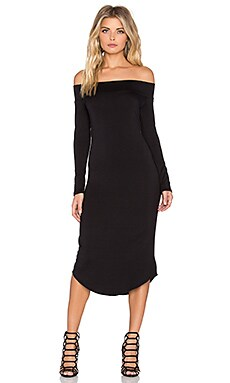 Riller & Fount Addison Midi Dress in Black