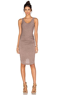 Riller & Fount Gia Midi Dress in Desert Rose