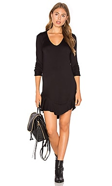 Emily Dress en Black French Terry