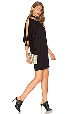 Nuala Dress en Black French Terry
