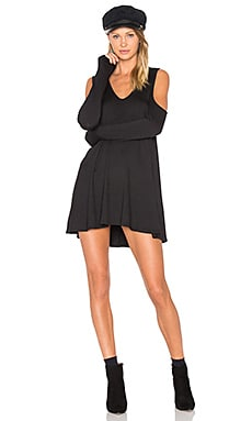 Fenny Dress in Black French Terry