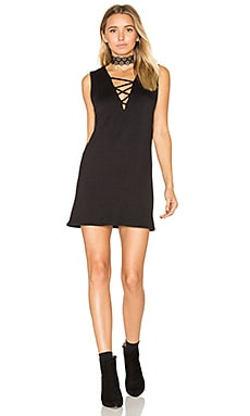 Elsa Criss Cross Mini Dress en Noir