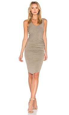 Gia Ruched Midi Dress in Seawash