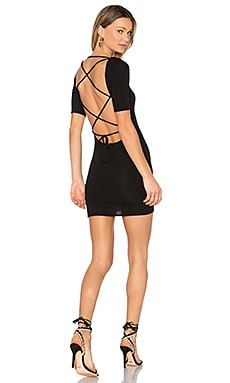 x REVOLVE Travis Criss Cross Back Mini Dress in Noir