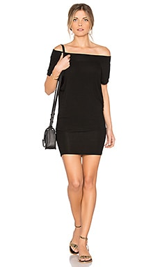 Dwight Off Shoulder Tunic Dress in Noir