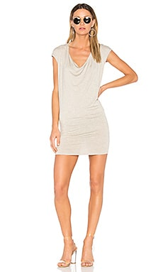 Waylon Drape Front Mini Dress in Honeycomb