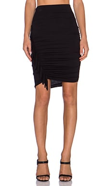 Riller & Fount Karina Fringe Skirt in Black