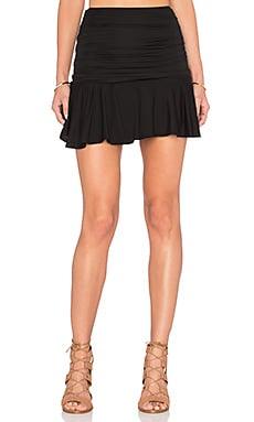 Sissy Yoke Skirt in Obsidian