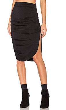 Mimi Skirt en Black French Terry