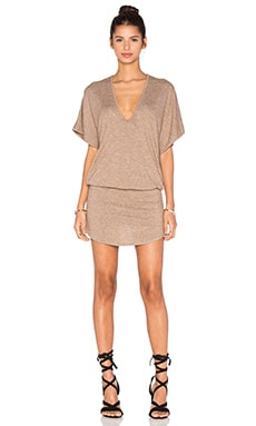 Riller & Fount Bo Romper with Shirttail Skirt in Sandstone