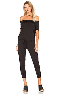Riller & Fount Jo Jumpsuit in Black French Terry