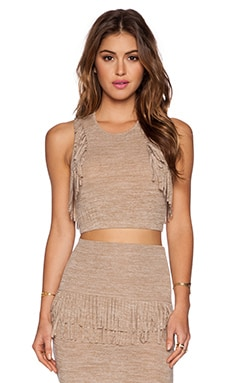 Riller & Fount Poppy Crop Top in Dirty Blonde