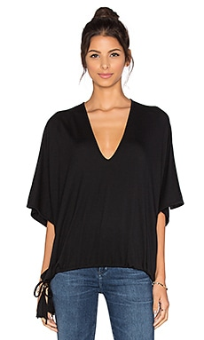 Riller & Fount Goldie Oversized Top in Obsidian