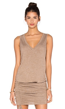 Riller & Fount Pam Cropped Tank in Sandstone