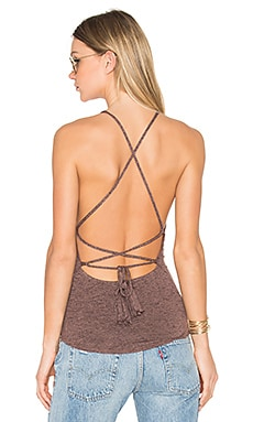 x REVOLVE Lulu Halter Criss Cross Tank in Fig