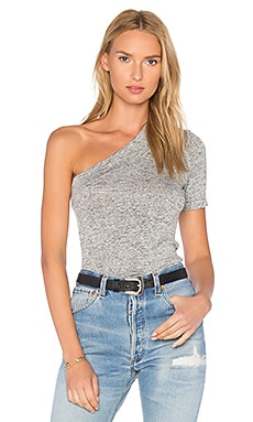 Lou One Shoulder Top in Pebble