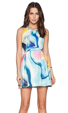 Ringuet Eternal Backless Pleat Dress in Print