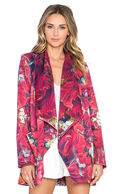 Ringuet Hayden Draped Coat in Print