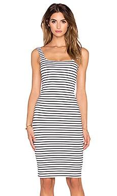 RISE Sleepless Midi Dress in Stripe